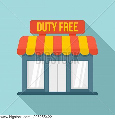Duty Free Shop Icon. Flat Illustration Of Duty Free Shop Vector Icon For Web Design