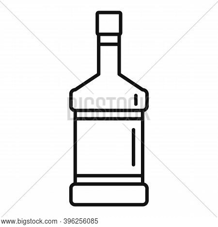 Duty Free Whisky Bottle Icon. Outline Duty Free Whisky Bottle Vector Icon For Web Design Isolated On