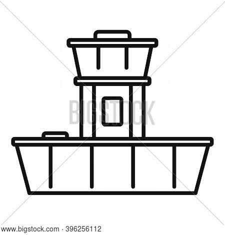 Airport Duty Free Shop Icon. Outline Airport Duty Free Shop Vector Icon For Web Design Isolated On W