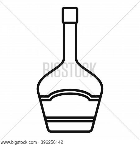 Duty Free Wine Bottle Icon. Outline Duty Free Wine Bottle Vector Icon For Web Design Isolated On Whi