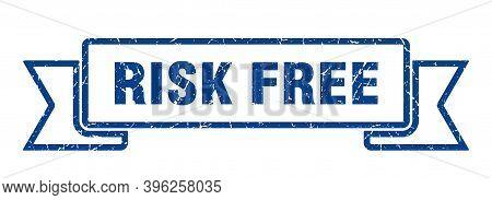 Risk Free Grunge Vintage Retro Band. Risk Free Ribbon