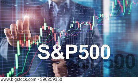 People Silhouettes On American Stock Market Index S P 500 - Spx.
