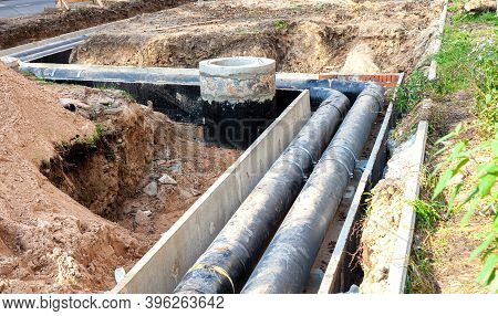 Repair Of Heating Networks. Reconstruction Of The Heat Supply System With Replacement Of Pipes.