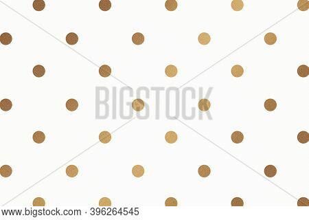 Gold polka dot glittery pattern wallpaper