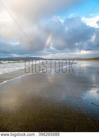 Rainbow Above Narin Beach By Portnoo - Donegal, Ireland