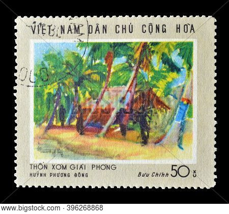 Vietnam - Circa 1969 : Cancelled Postage Stamp Printed By Vietnam, That Shows