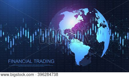 Stock Market Or Forex Trading Graph In Futuristic Concept For Financial Investment Or Economic Trend