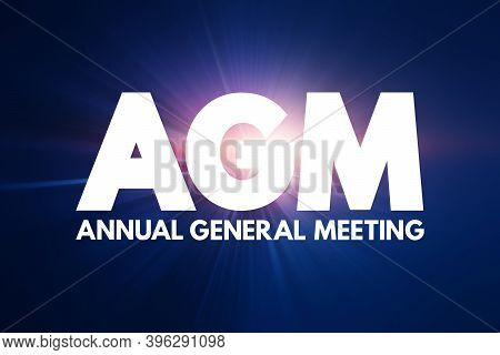 Agm - Annual General Meeting Acronym, Business Concept Background