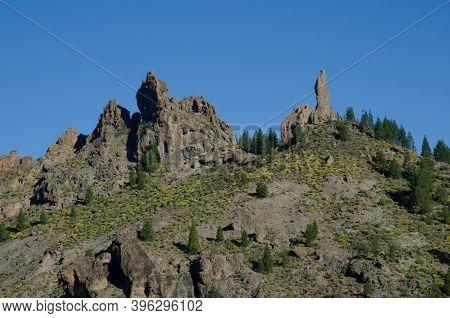 Rock El Fraile In The Nublo Rural Park. Tejeda. Gran Canaria. Canary Islands. Spain.