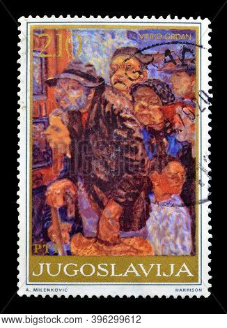 Yugoslavia - Circa 1975 : Cancelled Postage Stamp Printed By Yugoslavia, That Shows Painting By Vink