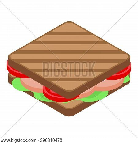 Healthy Breakfast Sandwich Icon. Isometric Of Healthy Breakfast Sandwich Vector Icon For Web Design