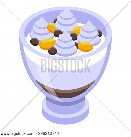 Healthy Breakfast Ice Cream Icon. Isometric Of Healthy Breakfast Ice Cream Vector Icon For Web Desig
