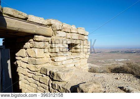 Reconstruction of a defensive position used during the Spanish civil war in Tardienta, Huesca province, Aragon in Spain.
