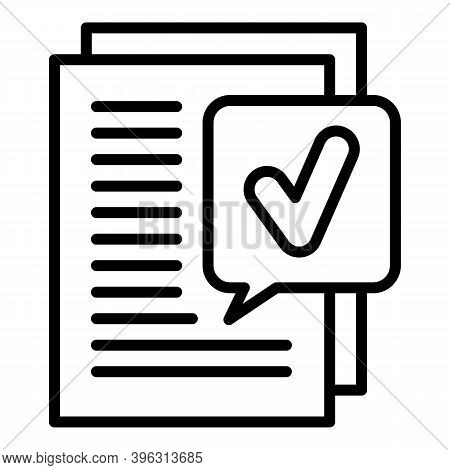 Excellent Report Icon. Outline Excellent Report Vector Icon For Web Design Isolated On White Backgro