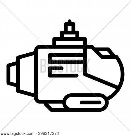 Submarine Bathyscaphe Icon. Outline Submarine Bathyscaphe Vector Icon For Web Design Isolated On Whi
