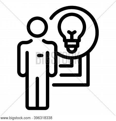 Reportage Idea Icon. Outline Reportage Idea Vector Icon For Web Design Isolated On White Background