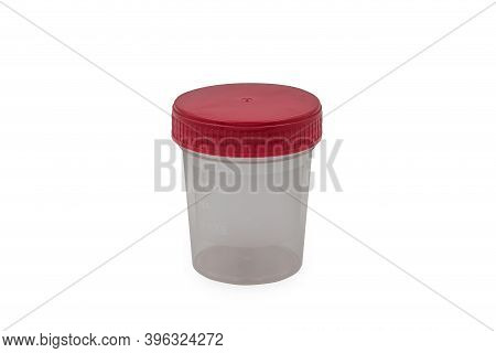 Medical Urine Container Isolated On White Background