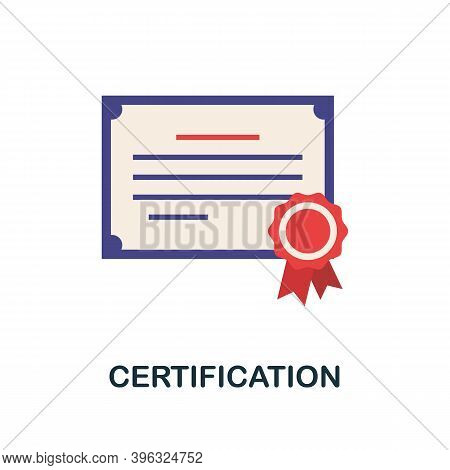 Certification Icon. Simple Element From Online Education Collection. Creative Certification Icon For