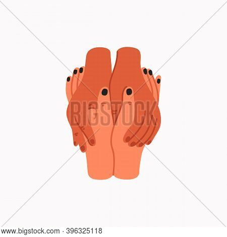Compassion. Empathy And Compassion Icon - Holding Hands.