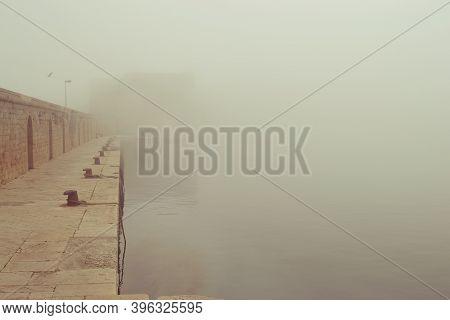 Fog In Monopoli (apulia - Italy) In Autumn