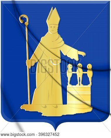 3d Valkenswaard Coat Of Arms (north Brabant), Netherlands. 3d Illustration.