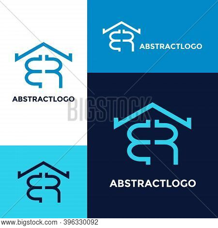 Real Estate Br Logo Design, Business Identify Initial Letter Br Modern Icon Template.