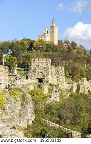 Ruins Of The Capital City Of The Second Bulgarian Empire Medieval Stronghold Tsarevets, Veliko Tarno