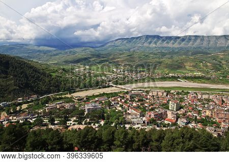 The View Of The Center Of Berat In Albania
