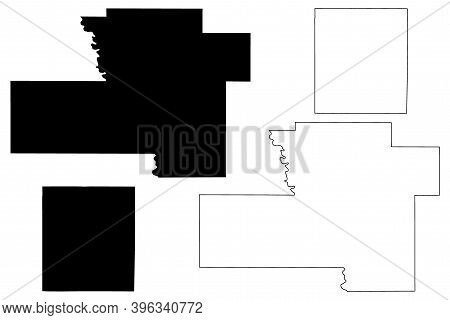 Murray And Lincoln County, Oklahoma State (u.s. County, United States Of America, Usa, U.s., Us) Map