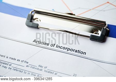 The Document Articles Of Incorporation Is Ready For Signing.