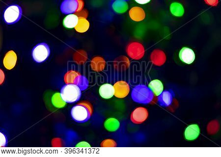 Abstract Color Background. No Trick. Colorful Bright Lights. Fantasy. New Year