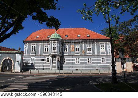 Zagreb, Croatia - 29 Apr 2018: St. Francis Monastery In Zagreb City, Croatia, Balkans