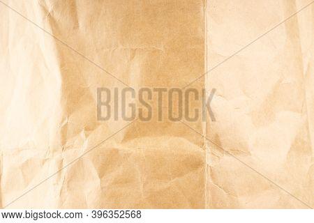Craft Paper. Crumpled Brown Cardboard Paper Texture. Old Crumpled Recycled Paper Texture, Color Beig