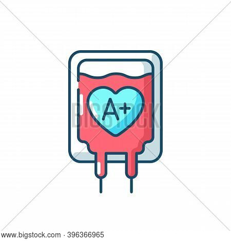 Blood Donation Rgb Color Icon. Healthcare Charity Campaign. Volunteer To Aid Against Disease. Emerge