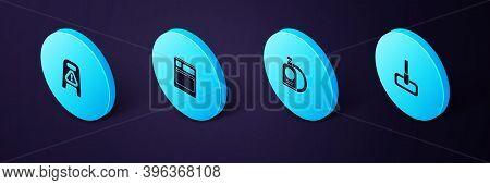 Set Isometric Mop, Dishwashing Liquid Bottle And Plate, Kitchen Dishwasher Machine And Wet Floor Cle