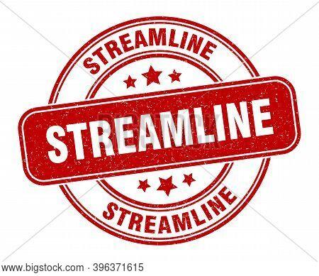 Streamline Stamp. Streamline Label. Round Grunge Sign