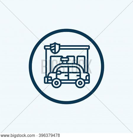 Police Car Icon Isolated On White Background From Crime Collection. Police Car Icon Trendy And Moder