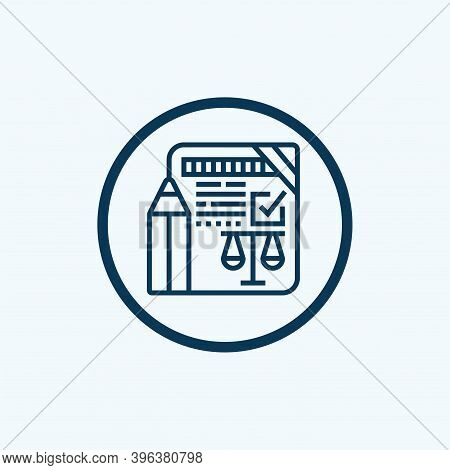 Legal Document Icon Isolated On White Background From Law And Justice Collection. Legal Document Ico