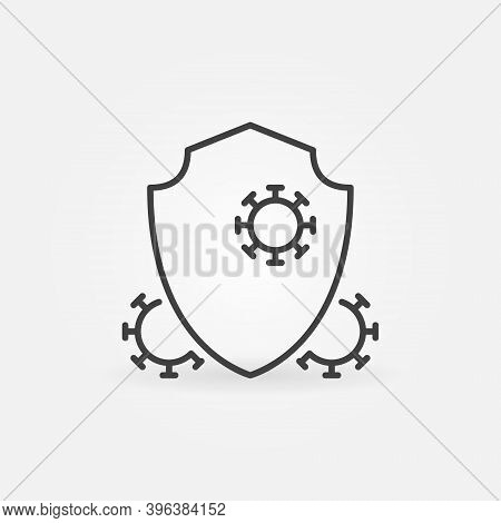 Antibacterial Defence Vector Thin Line Concept Icon Or Design Element