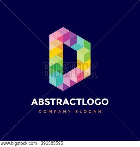 Logo Of D Creative Colorful Letter - Unique Alphabet D Icon Monogram Element.