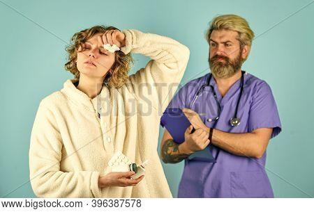 Drug Overdose. Medical Insurance Case. Daily Rate Medicines. Prescribed Treatment. Sick Patient. Med