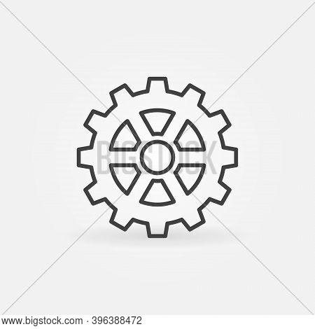 Cog Wheel Gear Vector Thin Line Concept Icon Or Design Element