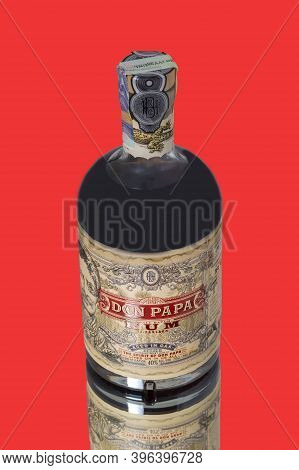 Brno, Czech Republic, November 2020 A Bottle Of Delicious Don Pap Rum In A Closed Bottle. A Bottle O