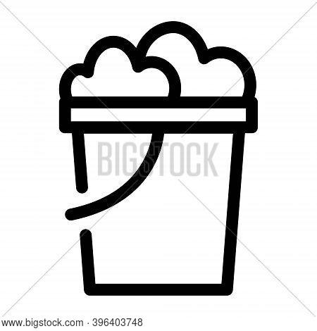 Beach Pail Icon. Bucket Symbol. Vector Illustration.