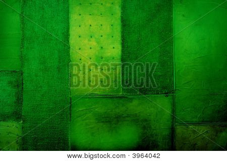 Canvas Abstract Lime Green