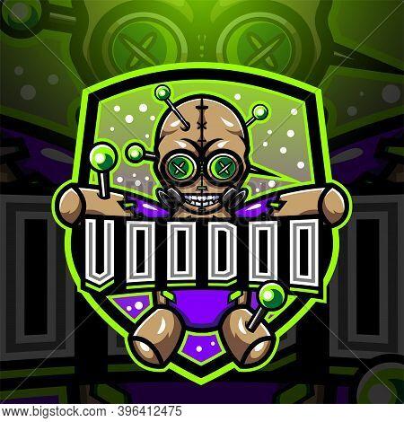 Voodoo Esport Mascot Logo Design With Text