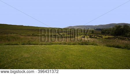 Hermitage Castle Is A Half-ruined Castle On Hermitage Water, Located In The Scottish Borders Area Of
