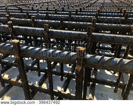 Rebars For Reinforcement Concrete.metal Framework For Cast In Site Concrete Slab