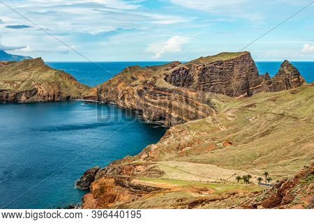 View Of Rocky Cliffs Clear Water Of Atlantic Ocean At Ponta De Sao Lourenco, The Island Of Madeira,