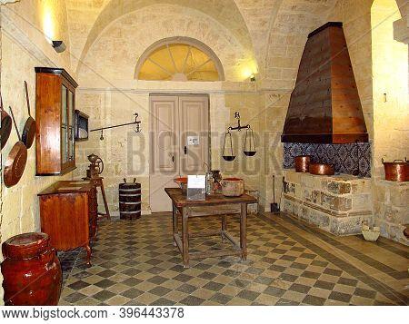 Mdina, Malta - 19 Jul 2011: Palazzo Falson Historic House Museum, Mdina, Malta